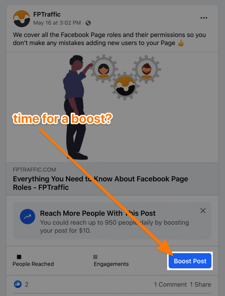 Boost Facebook Page Post