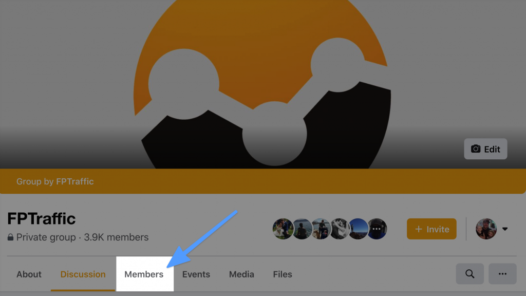 Facebook Group Members Tab