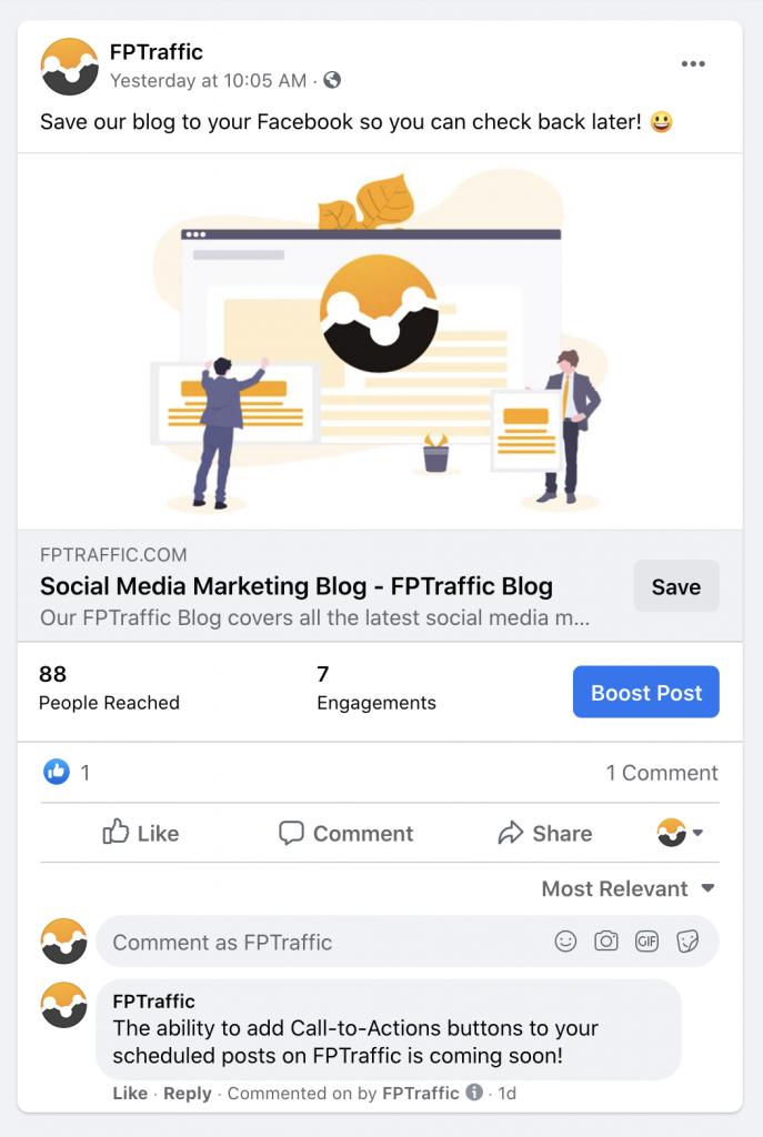 Example Facebook Call-to-Action button