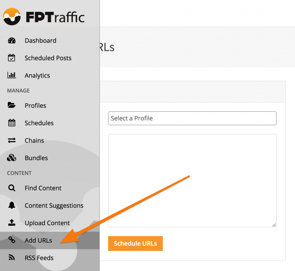 Schedule Links with FPTraffic