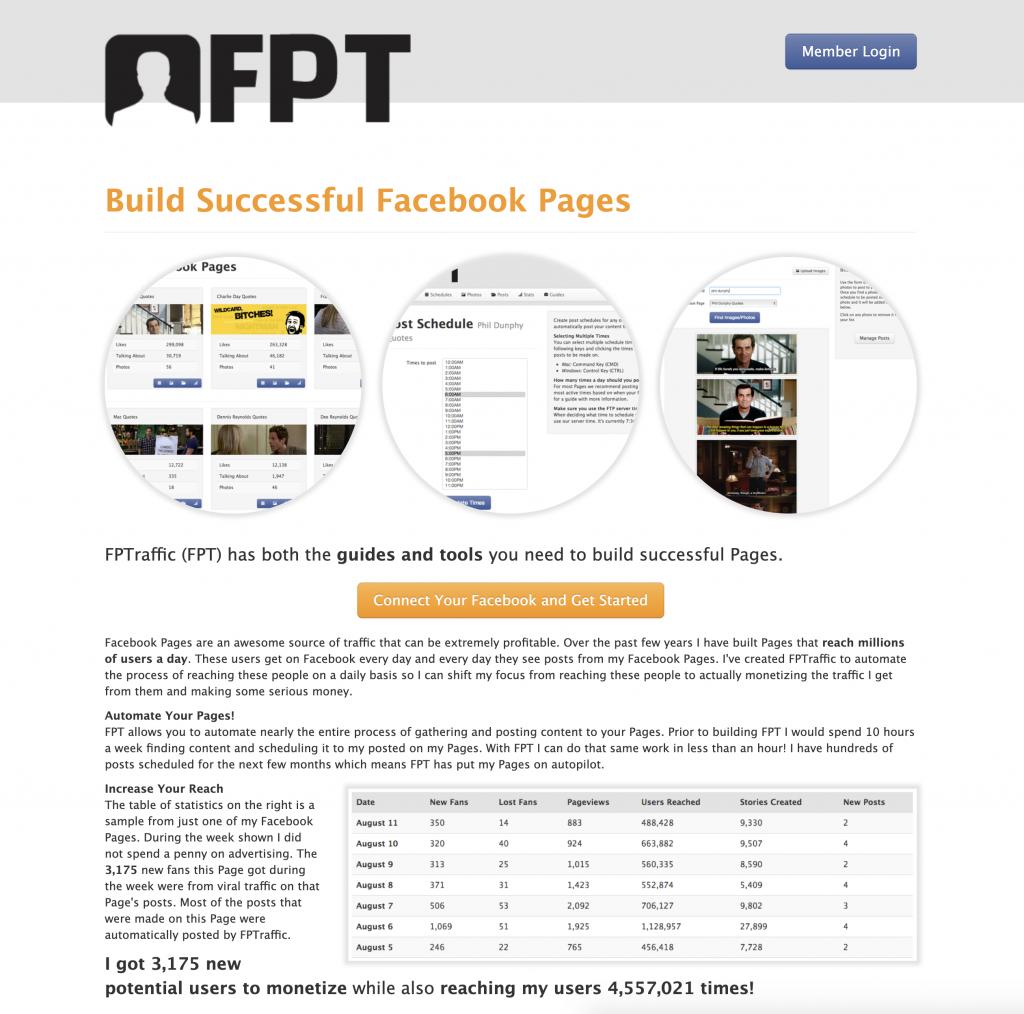 Original FPTraffic Homepage