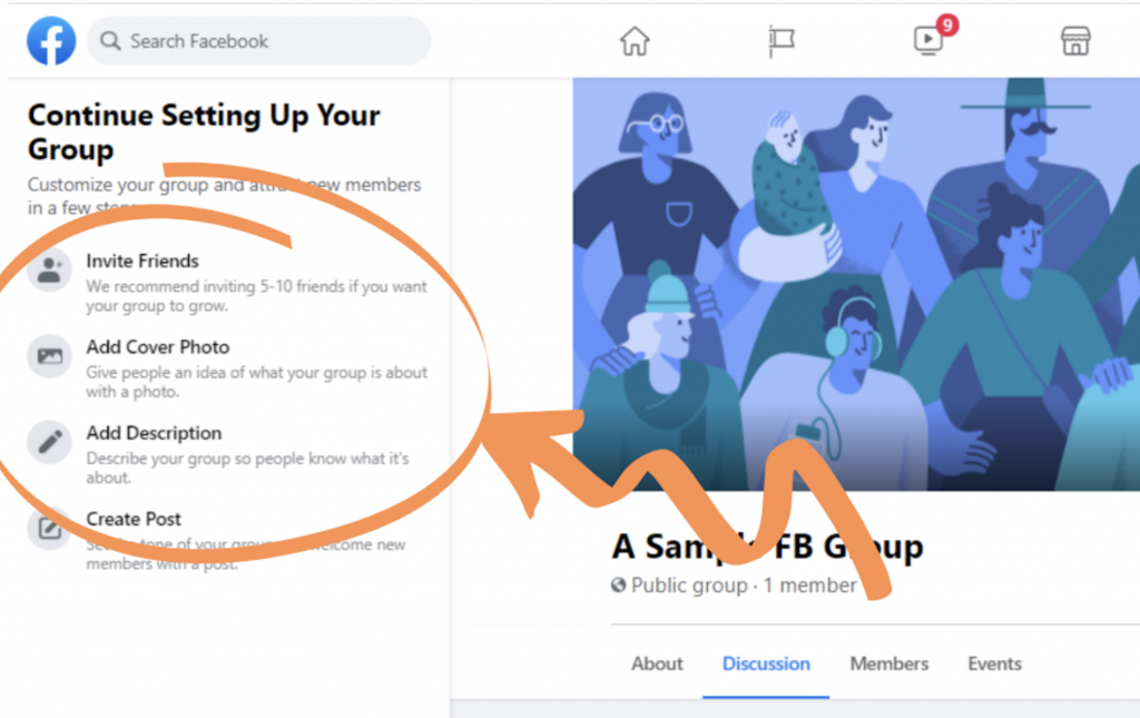 Setting up a new Facebook Group