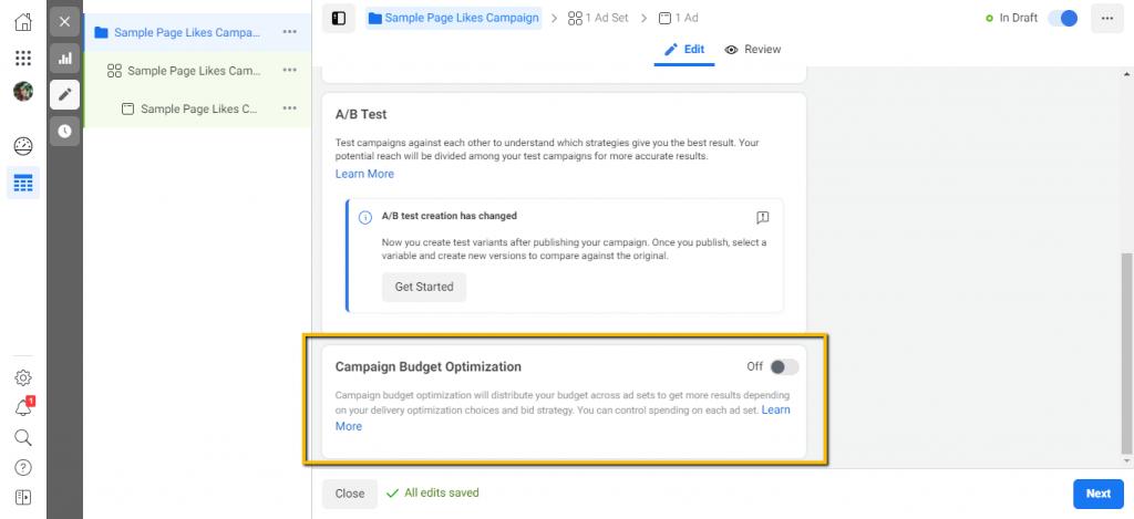 Campaign Budget Optimization