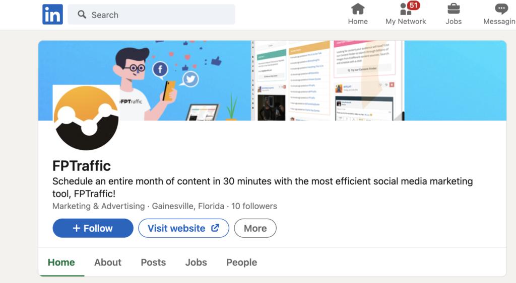 FPTraffic LinkedIn Company Page
